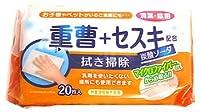 ティーエイチティー 拭き掃除 重曹+セスキ配合 炭酸ソーダ (20枚) マイクロファイバー配合シート 住宅用そうじシート