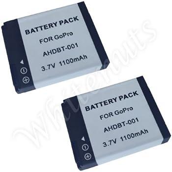 ABPAK-001 AHDBT-001 y 002 Pack 2 BATERÍAS para GOPRO HD Hero y hd Hero 2