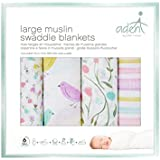 Aden By Aden And Anais Spring Awakening Swaddle, 4 Count