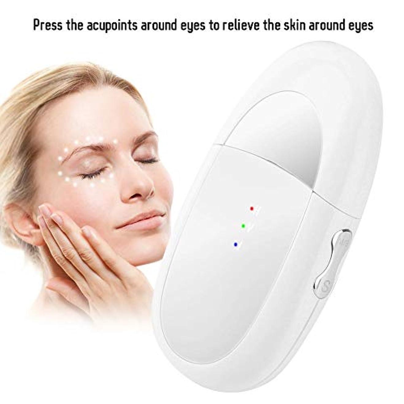 精神だます九月アイマッサージャー、2 in 1 Eye&Lipマッサージャーイオンインポートバイブレーションマッサージャーは、ダークサークルとむくみを緩和しますEyes&Lips Care Device