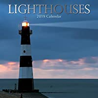 2019 Wall Calendar - Lighthouse Calendar,12 x 12 Inch Monthly View,16-Month,Scenic Coast Theme,Includes 180 Reminder Stickers [並行輸入品]