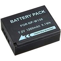 NinoLite NP-W126 互換 バッテリー Fuji X-E2 X-A1 X-T10 X-A2 X-T1 X-M1 X-E1 X-Pro1 HS30EXR 等対応 npw126_t.k.gai