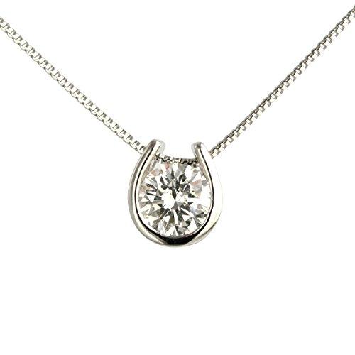 【 DIAMOND WORLD 】レディース ジュエリー K18WG ダイヤモンド ペンダントネックレス 0.30ct F・Gカラー SIクラス Goodカット