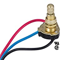 B&P Lamp 3-Way 4-position 2 Circuit Rotary Switch with removable knob 5/8 shank 【Creative Arts】 [並行輸入品]
