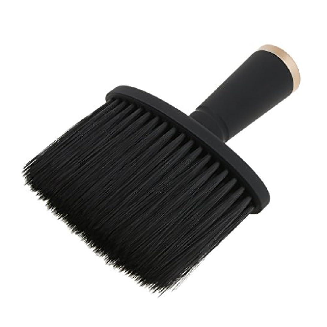 合わせてつかの間満了ネックダスターブラシ ヘアカット ヘアブラシ ヘアスタイリスト 理髪 高品質 合成繊維+プラスチック 全2色 - ゴールド