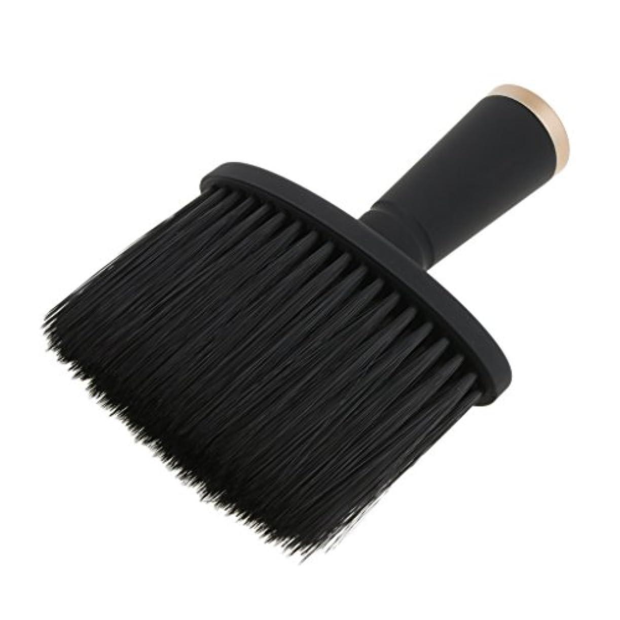 申請中同盟ピストンFenteer ネックダスターブラシ ヘアカット ヘアブラシ ヘアスタイリスト 理髪 高品質 合成繊維+プラスチック 全2色 - ゴールド