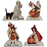 Bethany Lowe Halloween Trick or Treat Child 5in Dummy Board Set of 4