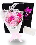 ソープフラワー 花束 花プレゼント ギフト 誕生日 母の日 入学 メッセージカード付き(ピンク)