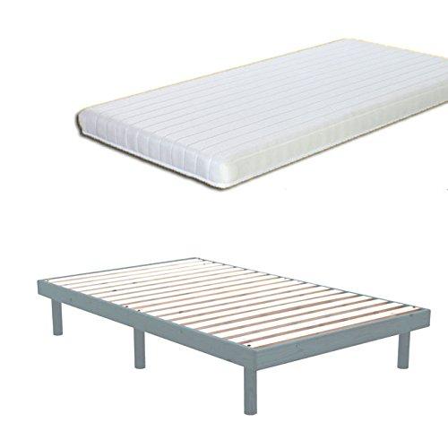 【マットレス付き】 ポケットコイル7色マルチカラー すのこ スノコベッド 無垢 北欧 パイン材すのこ ベッド グラファイトブルー色/シングル S