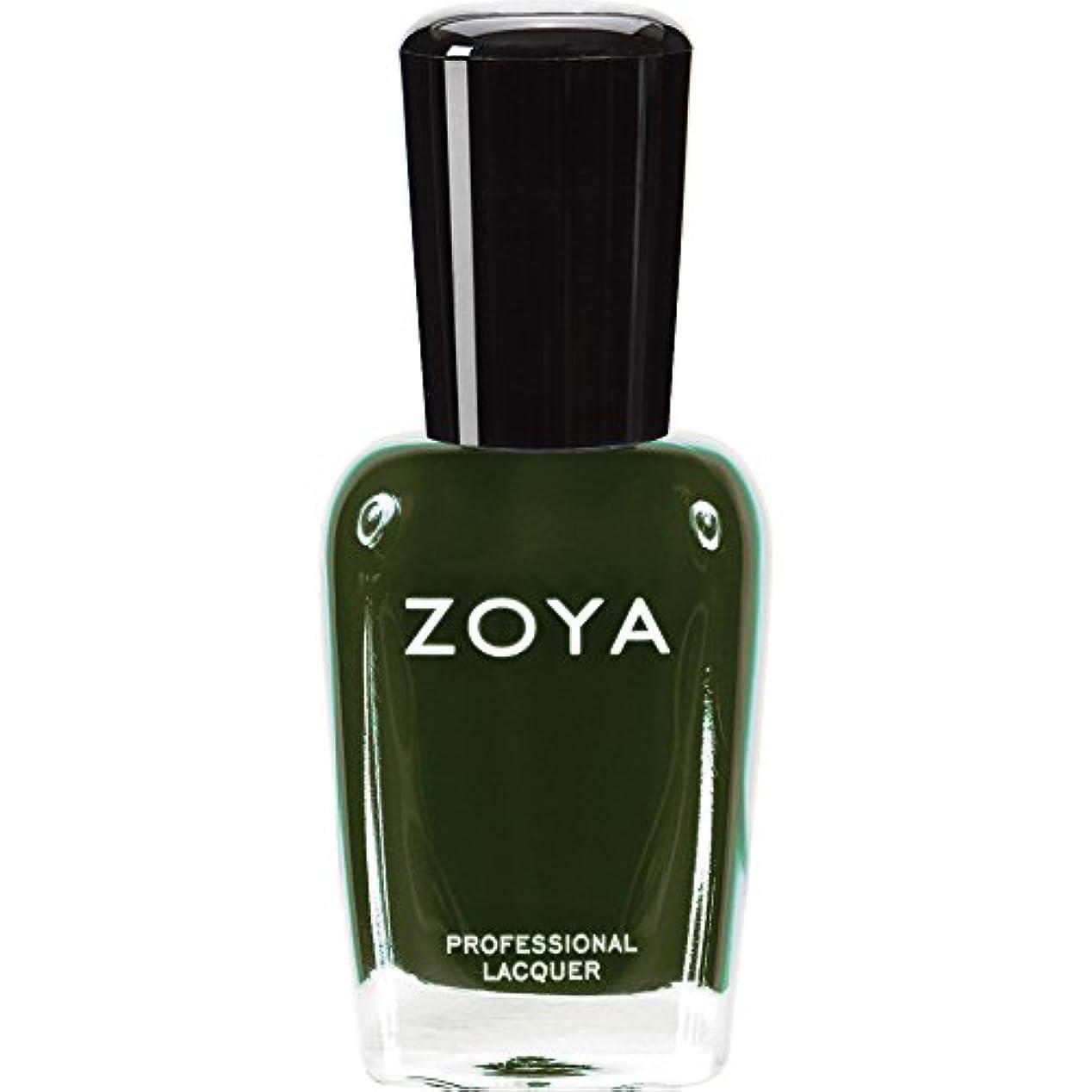 相対的雑種夜ZOYA ゾーヤ ネイルカラーZP490(ENVY) エンヴィー 15ml 深いダークグリーン マット/クリーム 爪にやさしいネイルポリッシュマニキュア