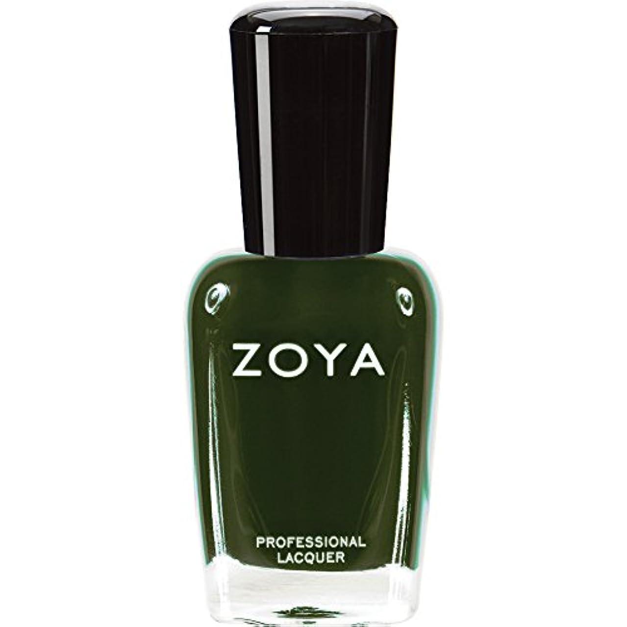キャンドルカジュアルコテージZOYA ゾーヤ ネイルカラーZP490(ENVY) エンヴィー 15ml 深いダークグリーン マット/クリーム 爪にやさしいネイルポリッシュマニキュア