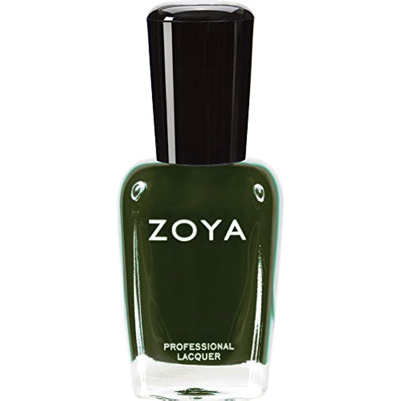 ハウス試験凍結ZOYA ゾーヤ ネイルカラーZP490(ENVY) エンヴィー 15ml 深いダークグリーン マット/クリーム 爪にやさしいネイルポリッシュマニキュア
