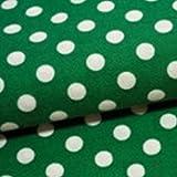 手芸のいとや コットンシーチング布 7mm ドットプリント サマーグリーン 生地幅-約110cm×50cm 綿100%