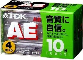TDK オーディオカテープ AE 10分4巻パック  AE-10X4G