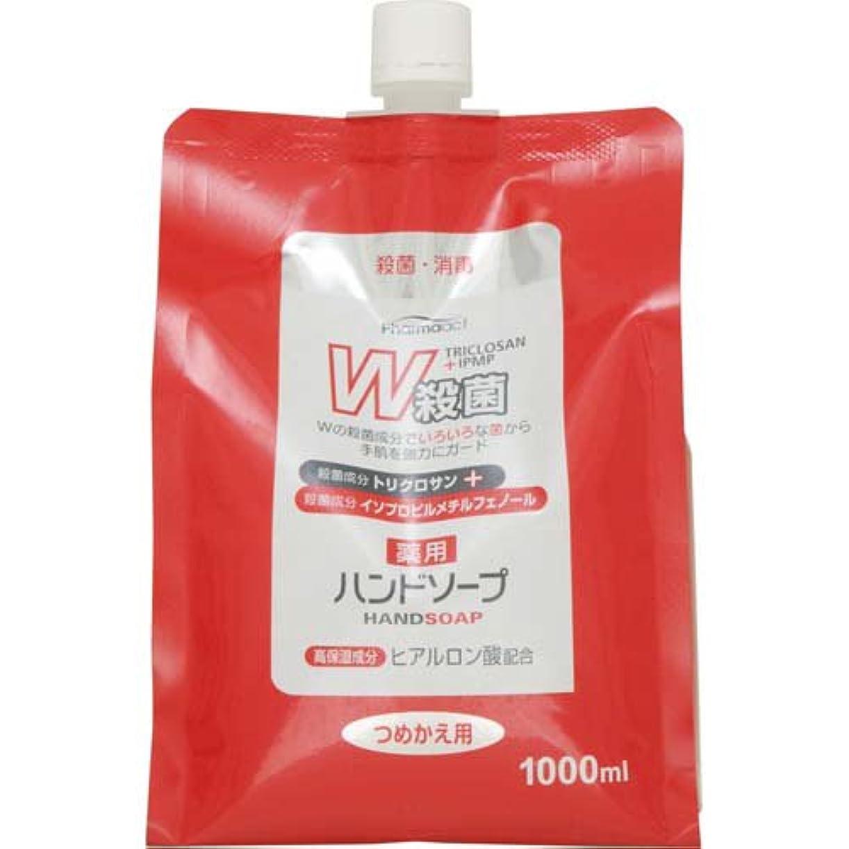 損傷スリップ高揚したファーマアクト W殺菌薬用ハンドソープ スパウト付き詰替 1000ml