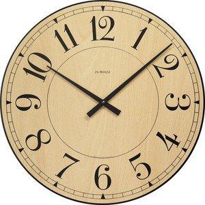 INHOUSE インハウス ステーション 掛け時計 :ビーチウッド W6CK φ40cm