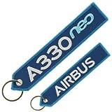 フライトタグ クルータグ Airbus A330neo Keyring ブルー エアバス キーリング 航空雑貨 飛行機グッズ エアライングッズ 【正規代理店】