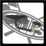 GOODS : スクエアミラー ブラック クランプタイプ