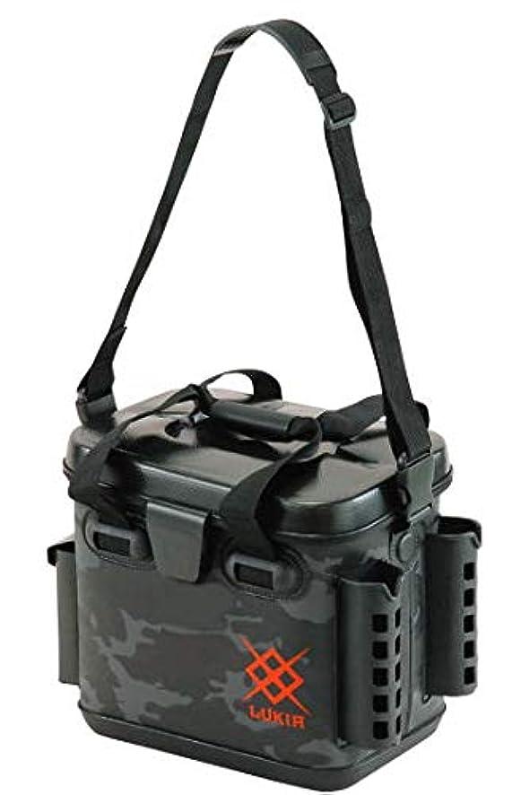 優越慎重に中断EVAライトゲームバッグ AEK532 ロッドスタンド付 ブラックカモフラ 33cm