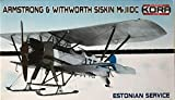 コラモデルス 1/72 エストニア空軍 アームストロング ホイットワース シスキン Mk.3 DC プラモデル KORPK72114