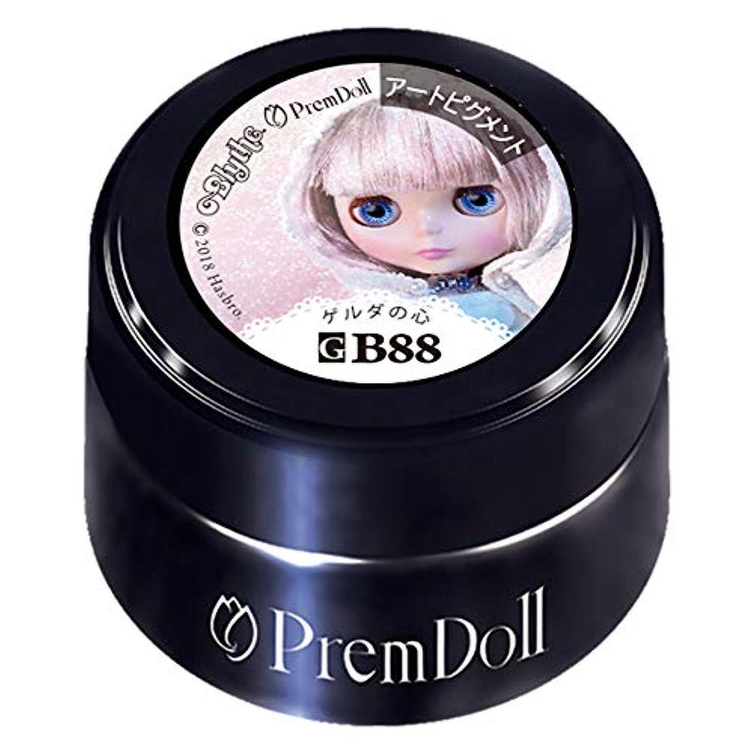 チーフ乳白色乳白色PRE GEL プリムドール ゲルダの心88 DOLL-B88 カラージェル 3g カラージェル UV/LED対応