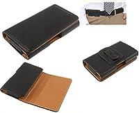 DFV mobile - 合成皮革のための横型ケース用ベルトケース => ALCATEL ONETOUCH EVOLVE > 黒
