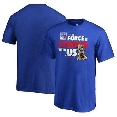 NFL New York Rangers Fanatics Branded Youth Star Wars Jedi Strong T-Shirt - Blue Tシャツ(ファングッズ)【並行輸入品】