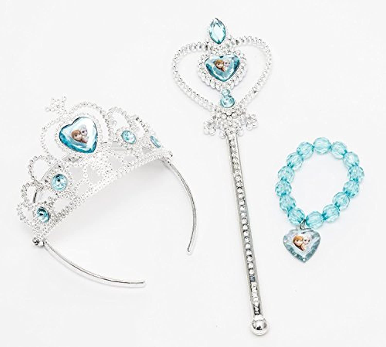 Disney Frozen Tiara Crown ,Wand and Bead Bracelet Gift Set with Bonus Bracelet Making Kit by iPrincess