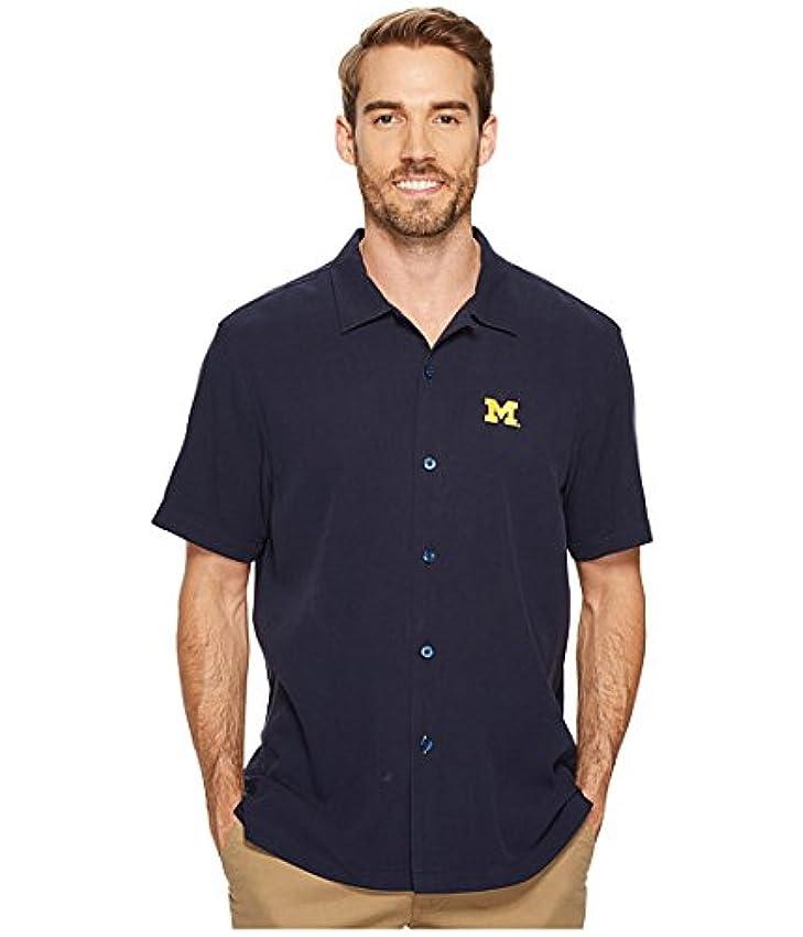 兄句読点オッズ(トミーバハマ)Tommy Bahama メンズシャツ?ワイシャツ Collegiate Series Catalina Twill University Of Michigan SM S [並行輸入品]