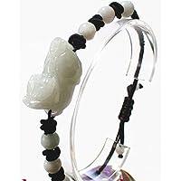 貔貅 財運 風水 天然 翡翠 手彫り 貔貅 ブレスレット 新品 威龍彩雲通販