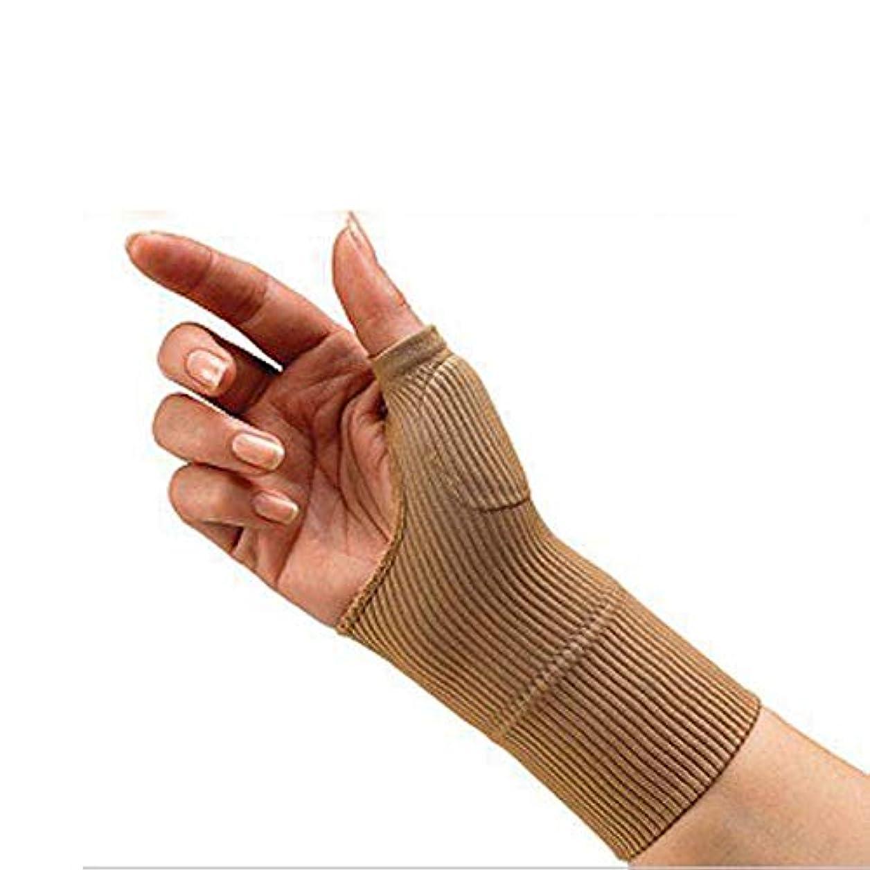 協力する特許くすぐったい男性の女性のためのソリッド手首ブレース手根管サポートハンドブレース手首のサポート包帯バンドベルトアウトドア手根管ハンドブレース