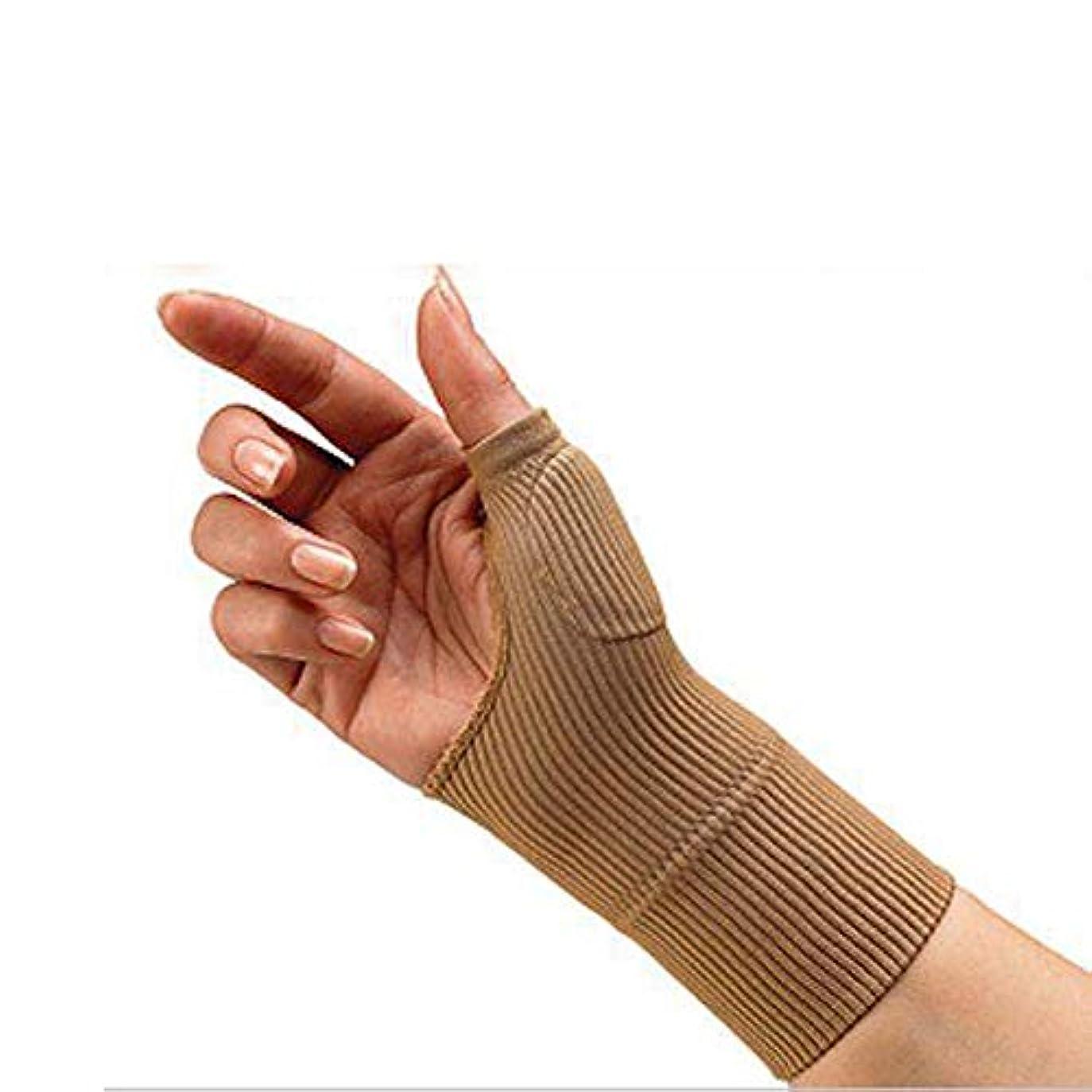 放散する体細胞宿泊施設男性の女性のためのソリッド手首ブレース手根管サポートハンドブレース手首のサポート包帯バンドベルトアウトドア手根管ハンドブレース