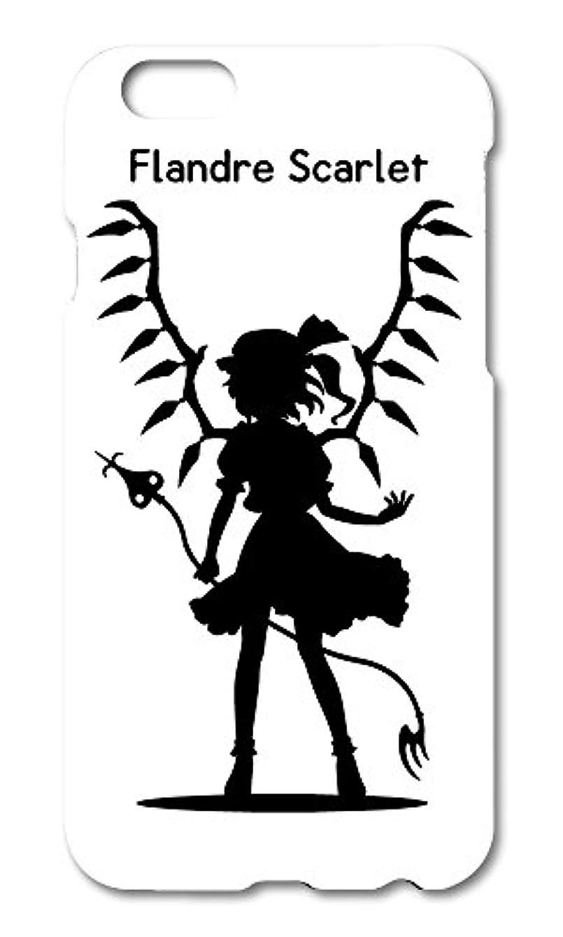 局忠実捕虜東方 シルエット フランドール?スカーレット Flandre Scarlet Bタイプ iPhone 6S / 6 ケース ホワイト