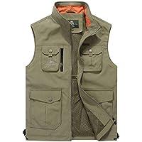 Men's Outdoor Quick-Dry Fishing Vest Multi Pockets Vest Fishing Hunting Waistcoat Travel Photography Jackets