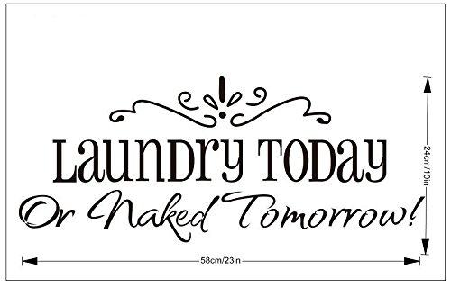 RoomClip商品情報 - EcloudShopランドリー今日または裸明日英語の諺リムーバブルウォールステッカー