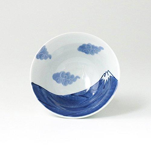 伊万里焼 富士山 飯碗(青) 12.5cm 徳七窯 to70129