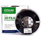 eSun 1.75 mm 1kg PLA+ 3D Filament, Black, One Size (PLA0101)