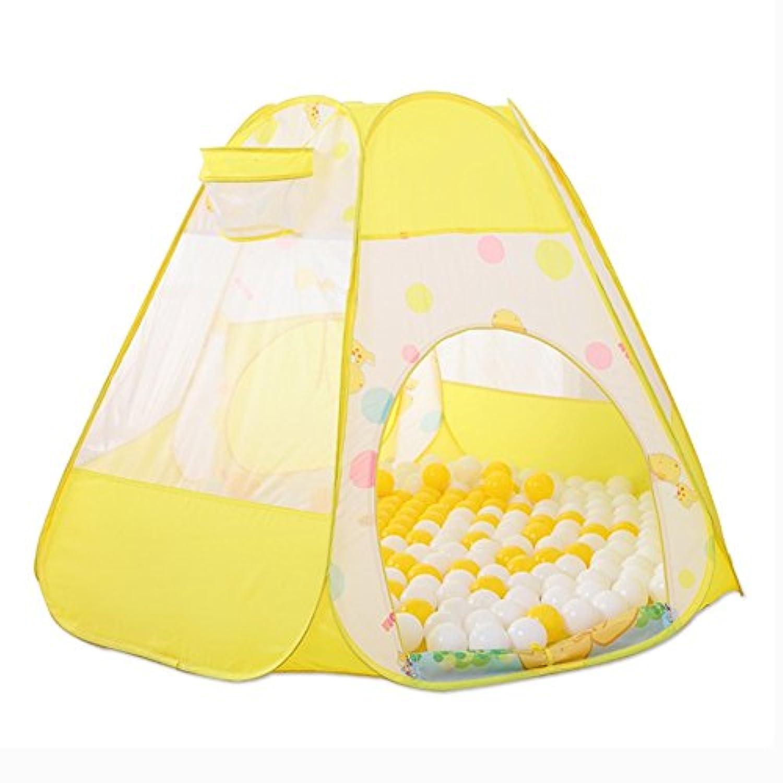 室内用ポータブルベビーテントPlaypen Boy Girl Kids 6パネル安全性Play Center Yardホーム多彩な、黄色