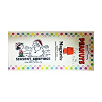磁気Collectibles Ltd Collectible Peanutsクリスマスマグネットルーシーサンタ雪だるま