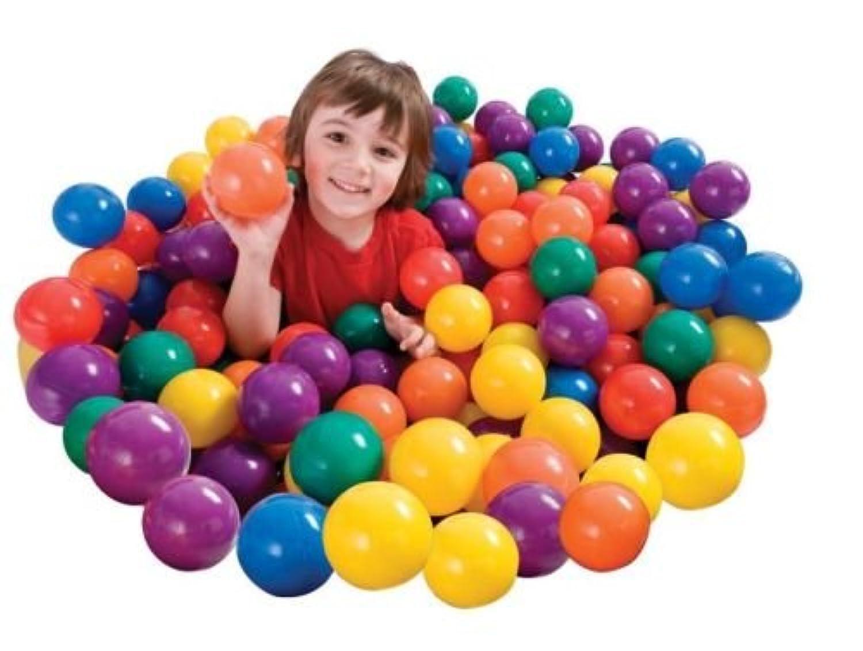 プラスチックボール赤ちゃんおもちゃ子供Fun SソフトBallz for Pitボール子供ユニセックスおもちゃマルチカラー100パック – House Deals