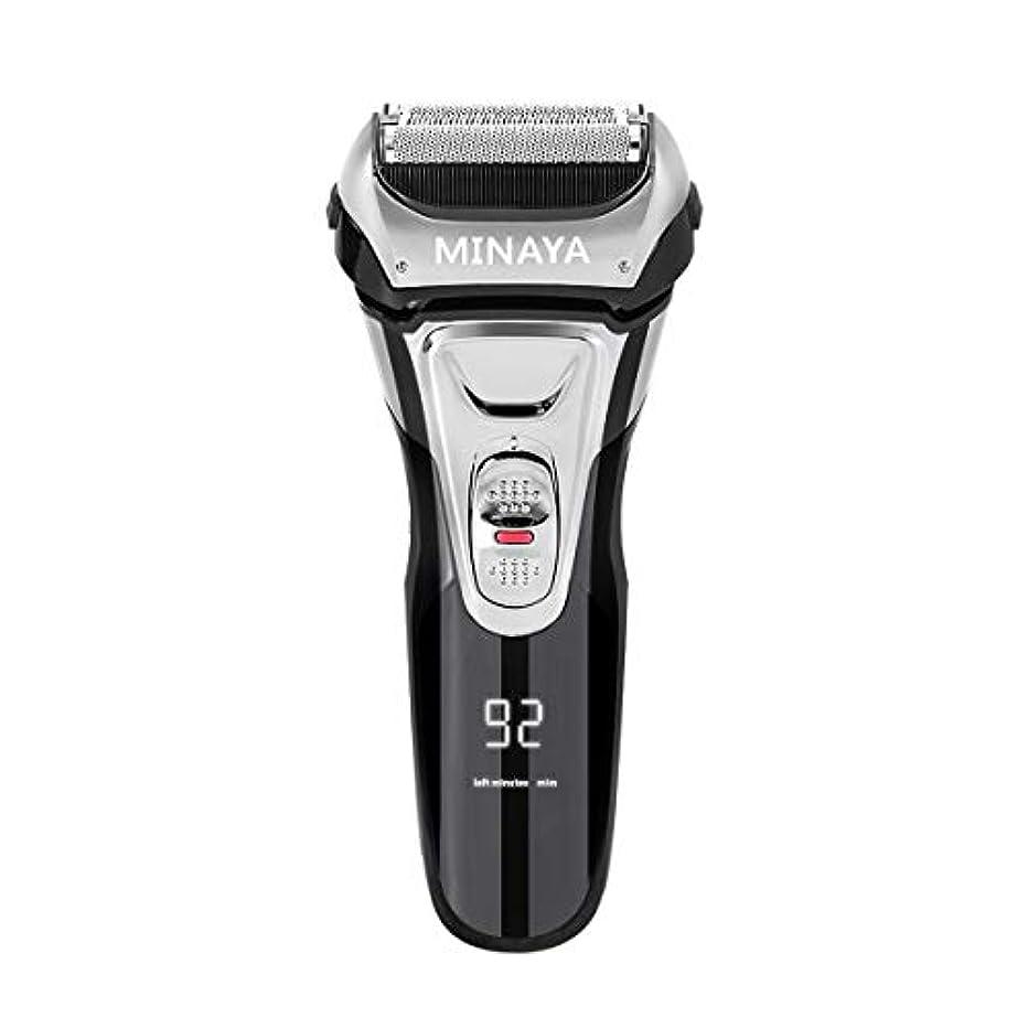 積分拡張してはいけない電気シェーバー メンズ シェーバー 往復式 3枚刃 髭剃り 電動 カミソリ LEDディスプレイ USB充電式 IPX7防水 水洗い/お風呂剃り対応
