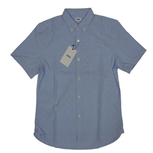 EDWIN(エドウィン) ET2038-142 綿100% エドウィンオックスフォードボタンダウンシャツ半袖 サックス