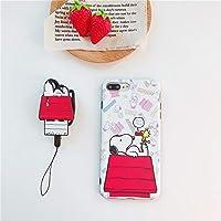 スヌーピー iphoneケース ネックストラップ付き ピンク iPhoneケース iphone8 ケース スヌーピー 携帯ケース iphone xs ケース TPU保護カバー 衝撃吸収 (iphoneX/XS)