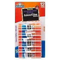 Elmer 's174; Washable Glue Sticks Disappearingパープル–12ctライトクリア