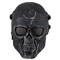 【EARTH LEAD】【全14種類】 サバゲー マスク  髑髏 ドクロ スカル エイリアン ターミネーター 般若 はんにゃ SK (5.ターミネーター 銀黒)