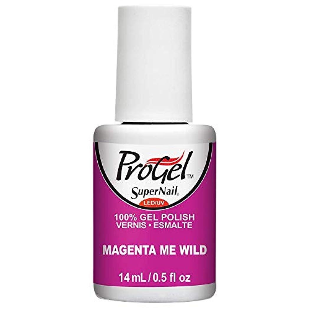 食い違い寓話生きているSuperNail ProGel Gel Polish - Magenta Me Wild - 0.5oz / 14ml