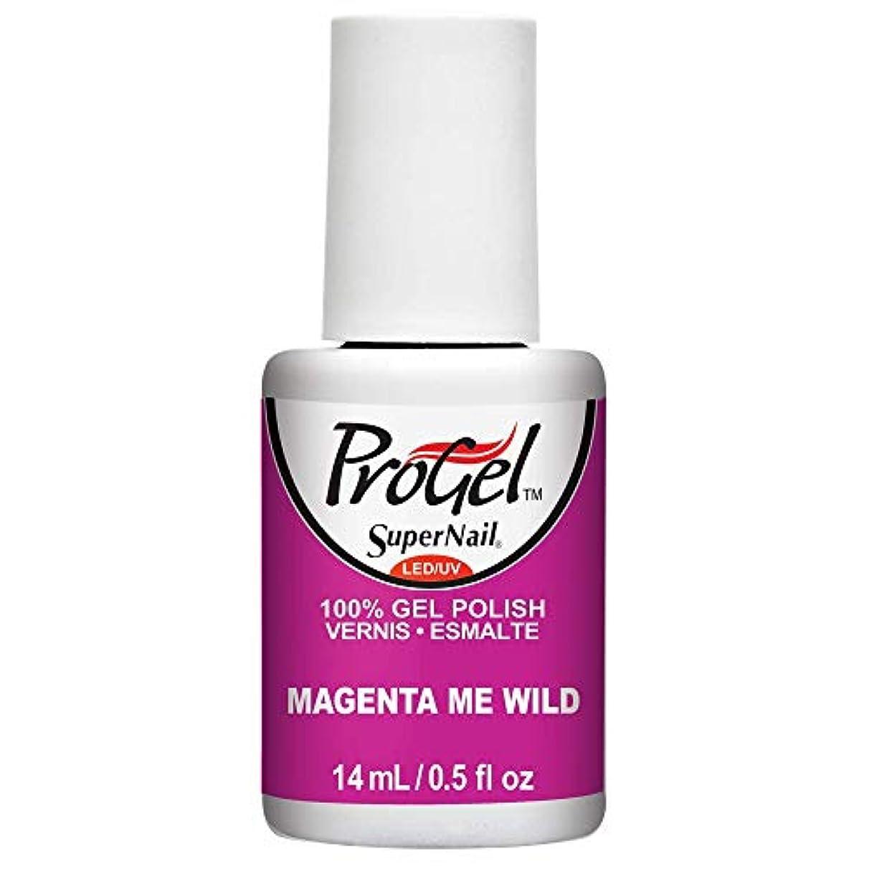 有利花嫁モニカSuperNail ProGel Gel Polish - Magenta Me Wild - 0.5oz / 14ml