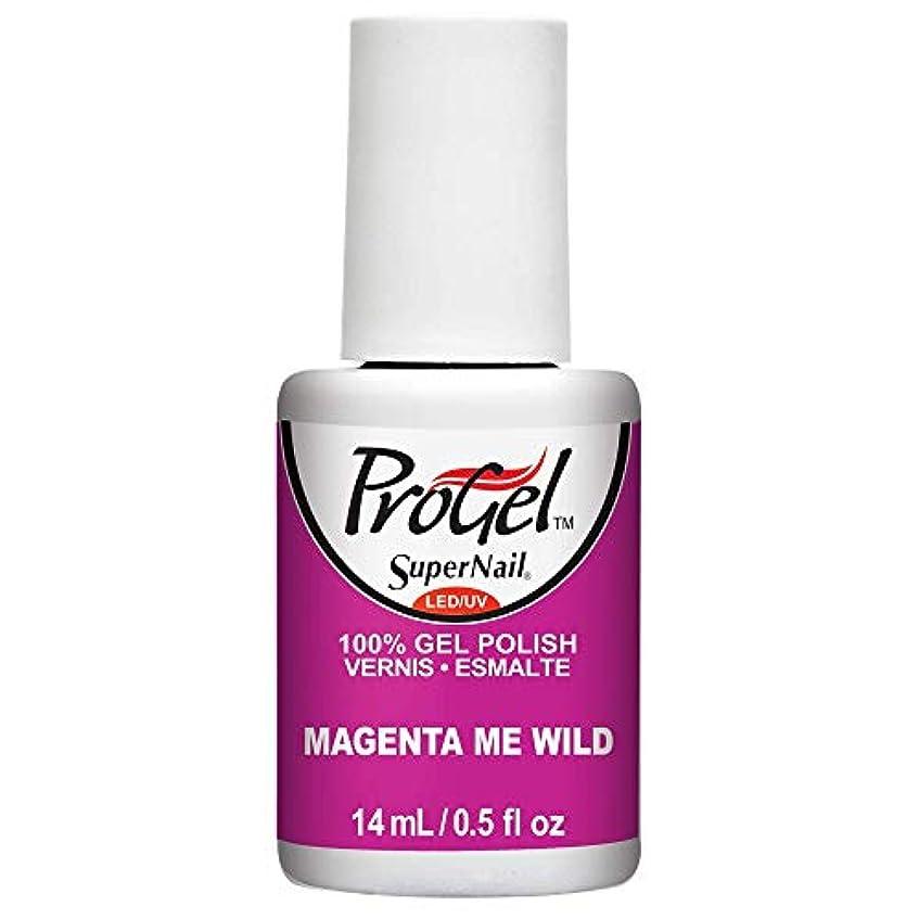タブレット不合格遺伝子SuperNail ProGel Gel Polish - Magenta Me Wild - 0.5oz / 14ml