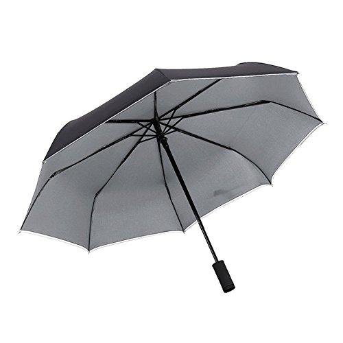 折り畳み傘 Antunワンタッチ自動開閉傘 高強度グラスファイバー 8本骨 110cm丈夫 耐風撥水 晴雨兼用 収納ポーチ付き LEDライト搭載 ブラック