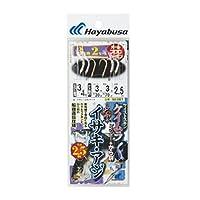 ハヤブサ(Hayabusa) 海戦イサキ・アジ ツイストケイムラレインボー&から鈎2.5m 3本鈎 SE367 3/4-3-3